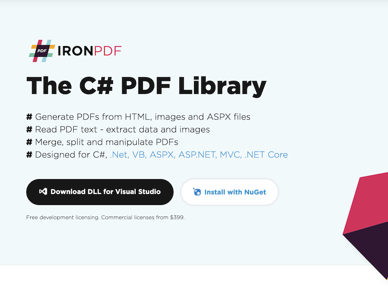 The C# PDF Library Shareware