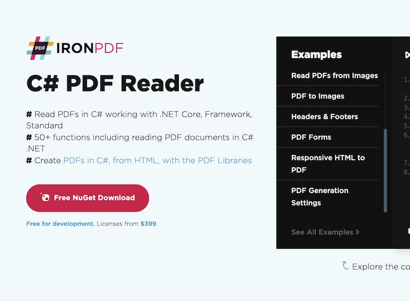 C# PDF Reader