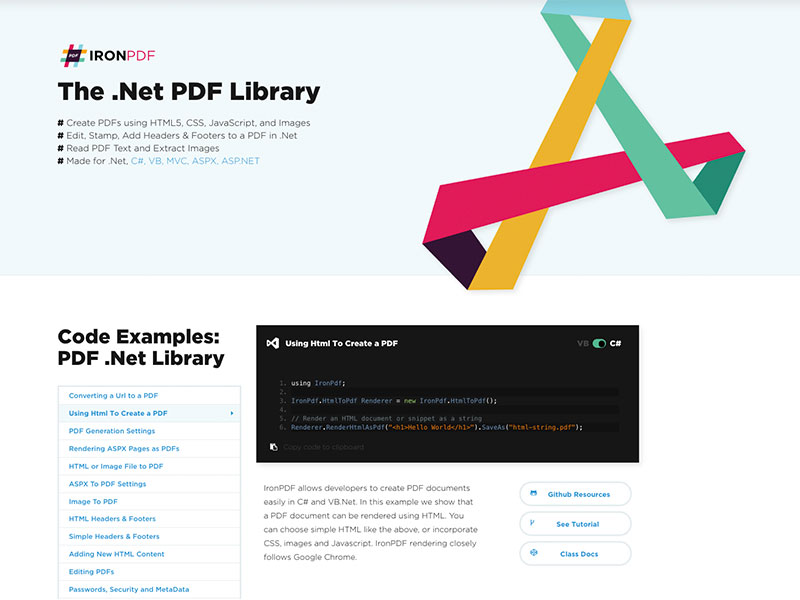 The .Net PDF Library