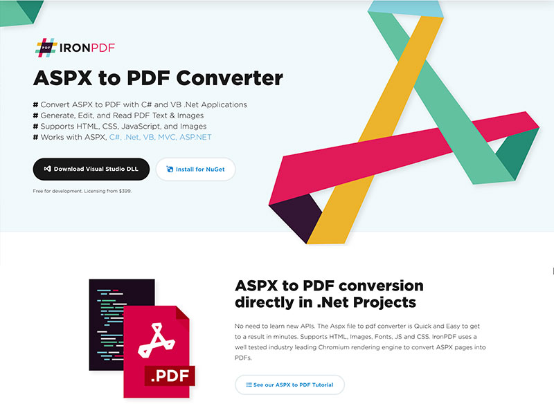 ASPX to PDF Converter full screenshot