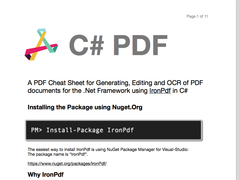 C# PDF Screenshot